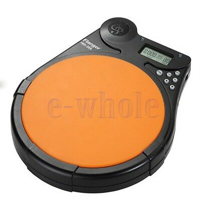 Acoustic Electronic Drummer Training Drum Pad Metronome Percussion Practice WS
