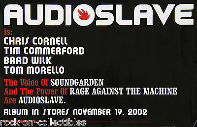 Audioslave 2002 Original Promo Poster Chris Cornell Tom Morello