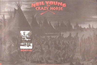 Neil Young & Crazy Horse 1996 Broken Arrow Original Promo Poster