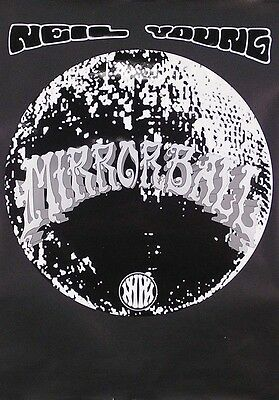 Neil Young 1995 Original Mirror Ball Poster