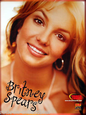 Britney Spears Tower Records Promo Poster Original