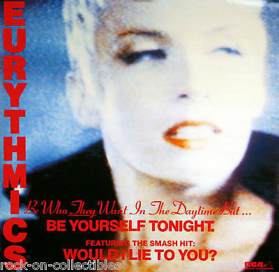 Eurythmics 1985 Vintage Lie To You Promo Poster Original