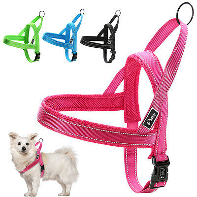 Soft Reflective No Pull Dog Harness Mesh Padded for Small Medium Large Dogs XXS