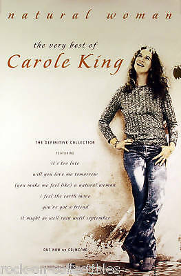 Carole King Natural Woman - The Very Best Of Original Promo Poster