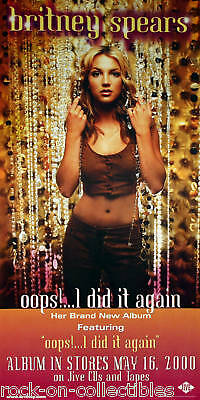 Britney Spears 2000 Original Oops Tour Promo Poster