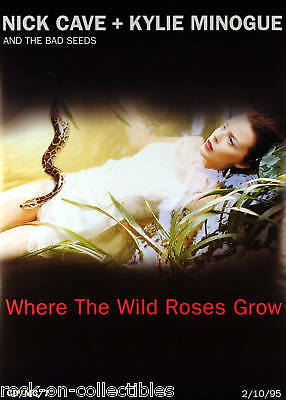 Kylie Minogue Nick Cave 1995 Wild Roses Promo Poster Original