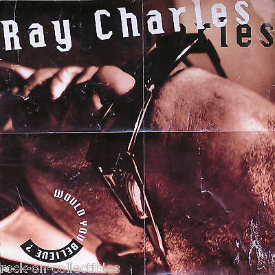 Ray Charles 1990 Would You Believe? Promo Poster Original