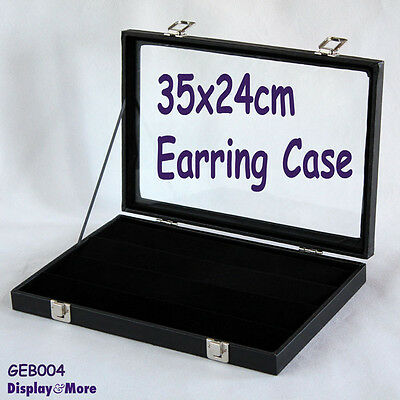 RELIABLE Glass Lid STUD Earring Display Case-4 Tiers | AUSSIE Seller