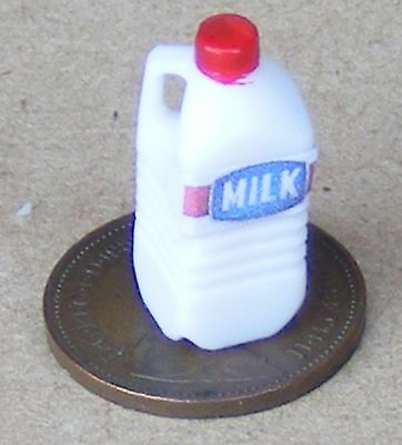 1:12 Scale Dolls House Miniature Plastic Carton Of Milk Kitchen Drink Accessory
