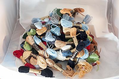 Bulk Lot of Anchor Tapestry Wool Yarn Assorted Colours 70 x 10m Rolls