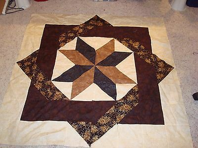 LABYRINTH IN BROWNS QUILT TOP - Not Quilted, Machine Pieced and made in the USA