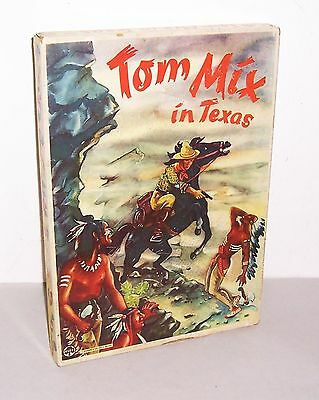 Altes wildwest Brettspiel TOM MIX IN TEXAS Kleefeld Fürth um 1958 Zinnfiguren !