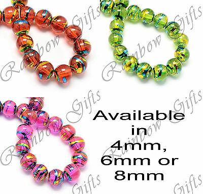 DRAWBENCH GLASS BEADS DRIZZLE BEADS 4mm 6mm 8mm BUY 1 GET 1 25% OFF UK SELLER