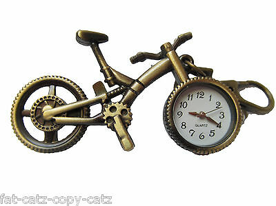 Antique Vintage Bike Cycling Mini Quartz Keyring Pocket Watch Gift Idea Ukseller