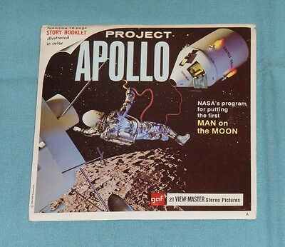 vintage PROJECT APOLLO (NASA'S MAN ON THE MOON) VIEW-MASTER REELS with booklet