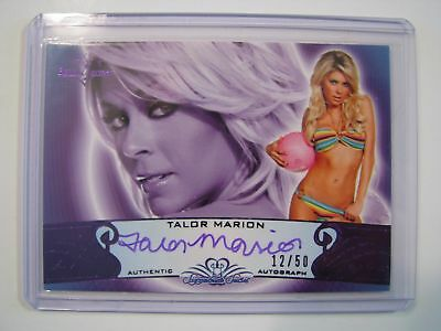 2010 BENCHWARMER TALOR MARION AUTO CARD 12/50 Purple