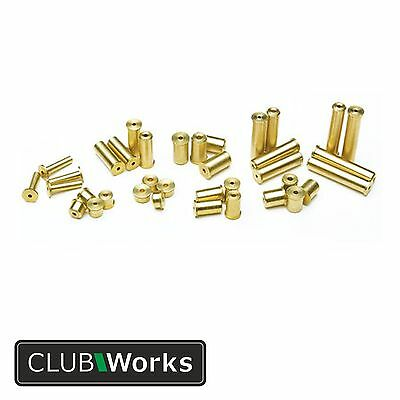 Brass shaft tip weights/swing weights - For graphite & steel shafts