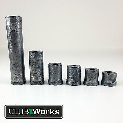 Lead counter balance swing weights - For steel shafts & putters- 9 weights 8-80g