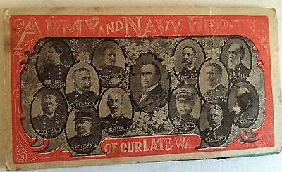 Vintage Army and Navy Needle Book Army Heroes  Of Our Late War