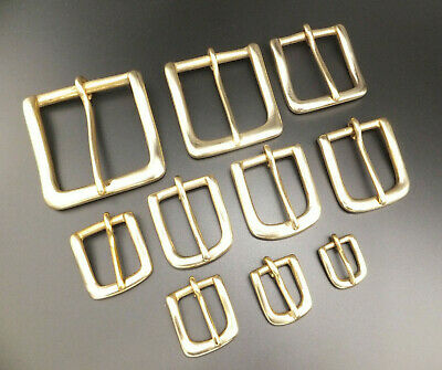 """CAST SOLID BRASS WEST END STYLE BELT BUCKLE - 1/2"""" to 2""""  HEAVY DUTY"""