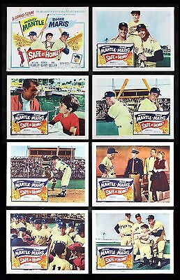 Safe At Home * Movie Poster Lobby Card Set Mickey Mantle Yankees Baseball 1962