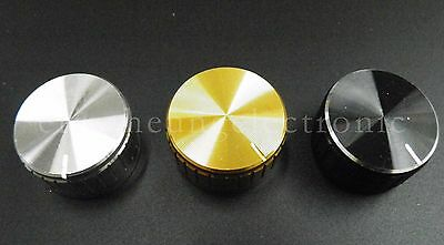 4pcs 30x17mm Gold Knob Cap Aluminum Alloy Potentiometer Knobs Cap New