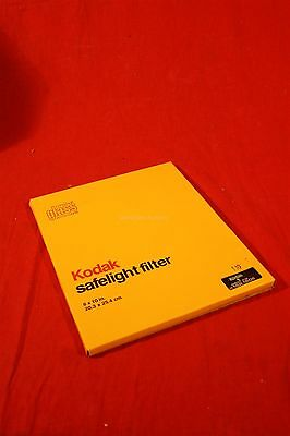 "Kodak glass safelight filter 152 1608 No.1 Red darkroom photography 8"" x 10"""