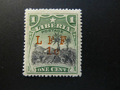 1916 - Liberia - Surcharged In Red - Scott M6 A46 1C On 1C