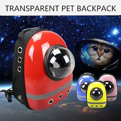 NEW Astronaut Dog Cat Pet Breathable Backpack Transparent Carrier Travel Bag