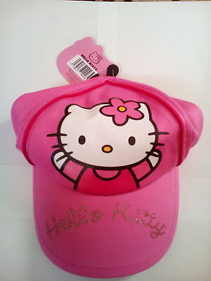 Official Hello Kitty Pink Cap Hat 2-3 Years Small Summer Cute