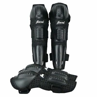Fincci Knee Elbow Long Shin Pads Armour Motocross Motorcycle Bicycle Skate Bike