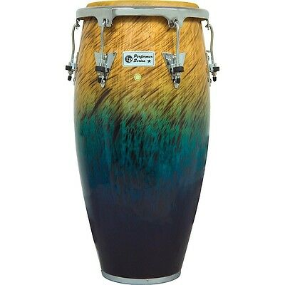 LP Performer Series Conga with Chrome Hardware 11.75 Inch Blue Fade
