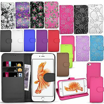 For Apple Iphone 7 Plus - Wallet Leather Case Flip Cover Flower Floral Book