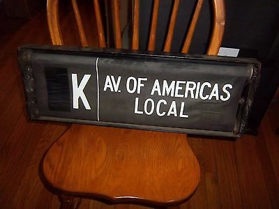 Ind Nyc Subway Brooklyn R1/9 #3 Route Side Sign Box Roll Sign Transit Historical