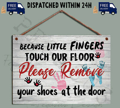 Shoes off Sign,Please Baby, Family Remove your Shoes, Gift Wooden Plaque