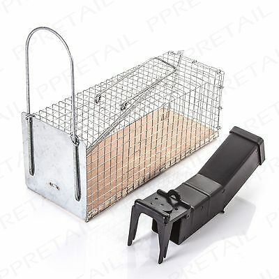 HUMANE SMALL-LARGE MOUSE METAL CAGE/DURABLE PLASTIC TRAP Easy Live Catch/Release