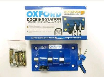 OXFORD DOCKING STATION GROUND/WALL ANCHOR Thatcham approved security NEW