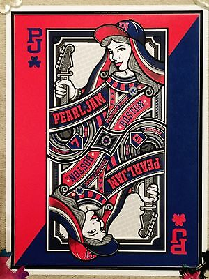 Pearl Jam At Fenway Park Boston August 2016 Mark 5 Poster - Perfect Condition