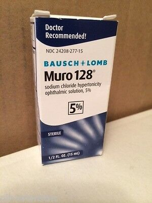 NEW Bausch & Lomb Muro 128 5% Solution 1/2 fl oz 15ml Expires JANUARY 2020