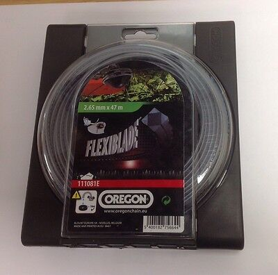 OREGON FLEXIBLADE heavy duty strimmer trimmer line 2.65mm x 47m strong 111081