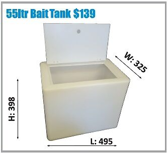 Polymate Aussie Made - Live Bait Tank - 55Ltr  - Natural