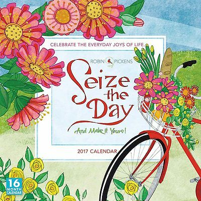 Seize the Day 2017 Square Wall Calendar NEW by Sellers Publishing