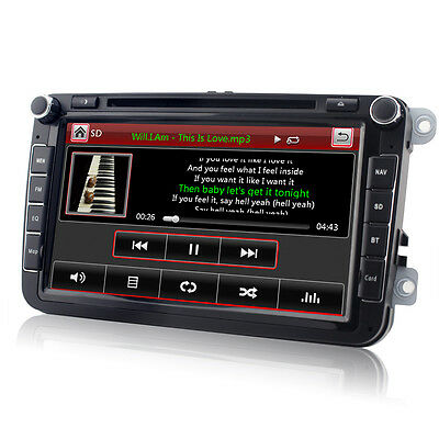 DVD GPS Autoradio für VW GOLF 5 6 PASSAT TIGUAN TOURAN POLO Caddy SEAT T5 VMCD
