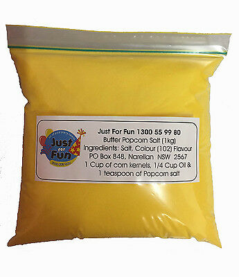1kg Butter Popcorn Salt. Cinema Quality Popcorn Salt for Popcorn Machine (Bulk)