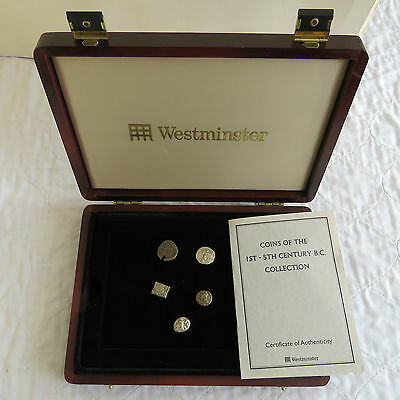 COINS OF THE 1st - 5th CENTURY B.C. COLLECTION - boxed/coa