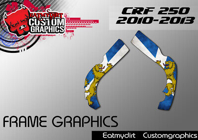 For Honda Crf 250 2009-2012 Frame Protection Graphics Stickers Motocross Decals