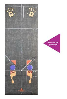 Atmananda Natural Eco Yoga Alignment Sequence Training Fitness Exercise Gym Mat