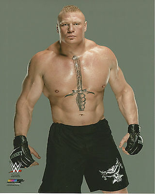 WWE 8x10 Official Promo Photo Brock Lesnar 2016 BRAND NEW