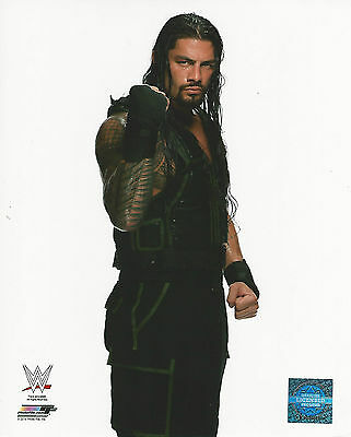 WWE 8x10 Official Promo Photo Roman Reigns Superman Punch 2014