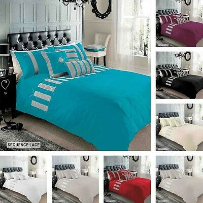 Sequence Lace Sparkly Duvet Cover Quilt Cover Bedding Set 8 Colours Available